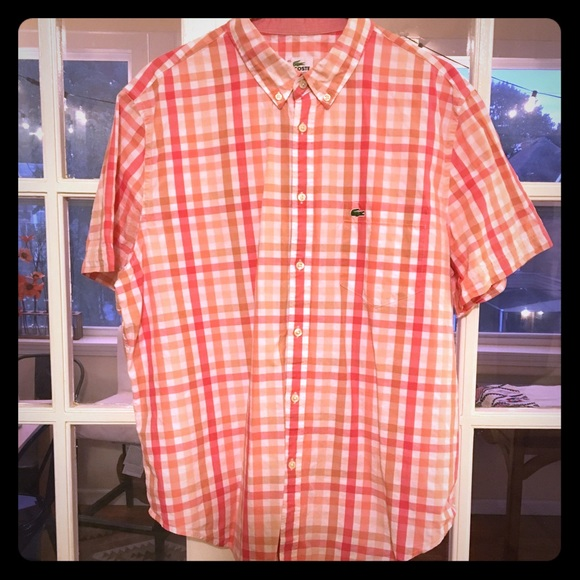 16ebd0bf2 Lacoste Other - Lacoste Plaid Woven Button Down